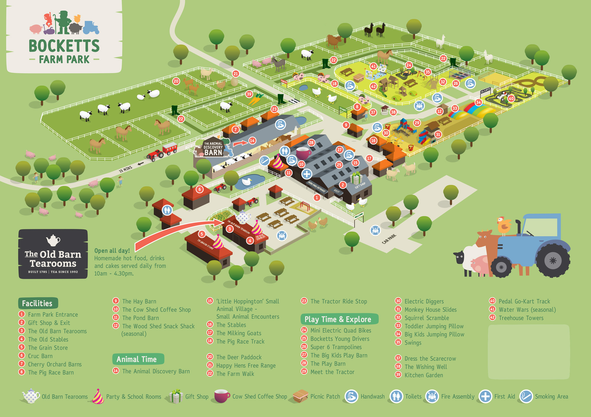 Bocketts Farm Map