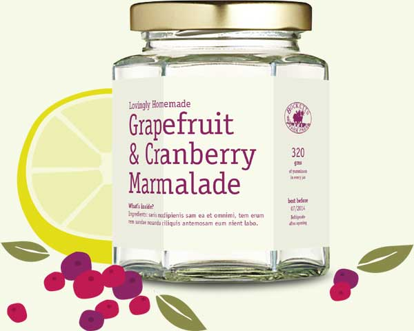 grapefuit and cranberry marmalade